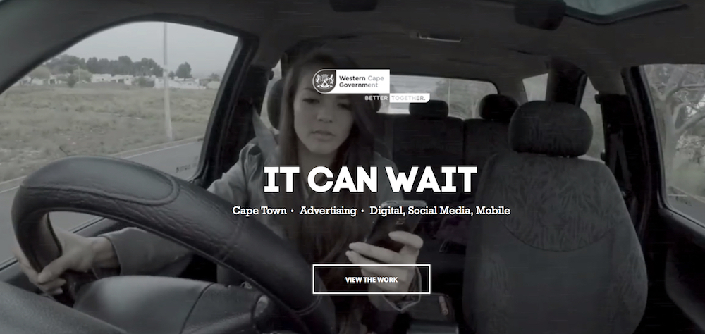 Social engagement – Don't text and drive Media House International