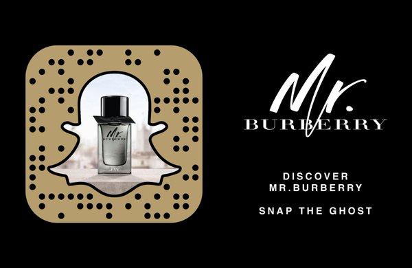Burberry snapchat app icon, Media House International