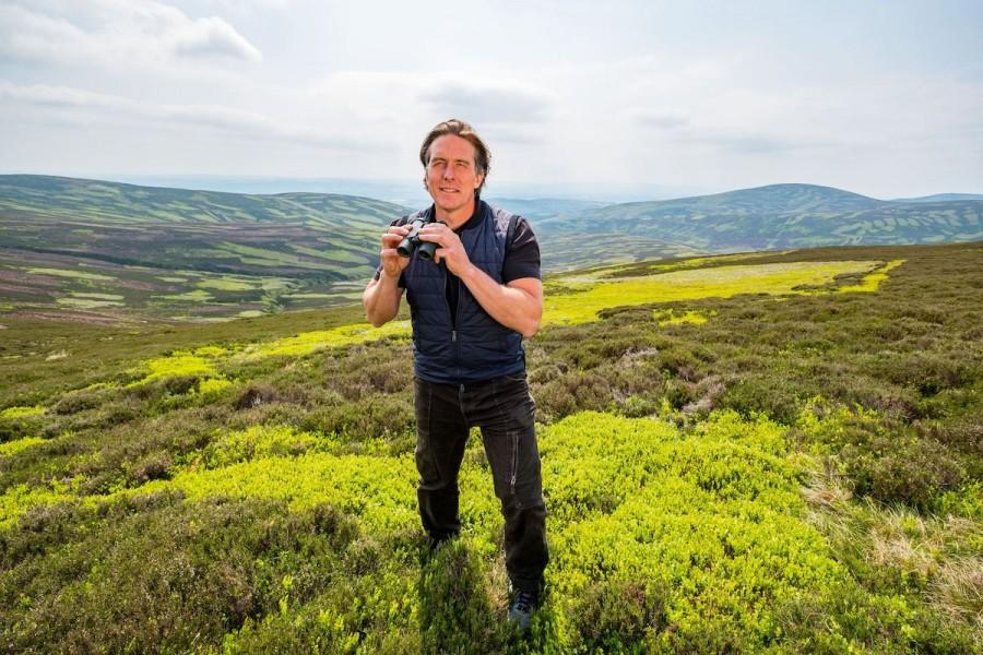 Dr Daniel Hoffman at Glenogil Estate, Scotland PR, wildlife, conservation