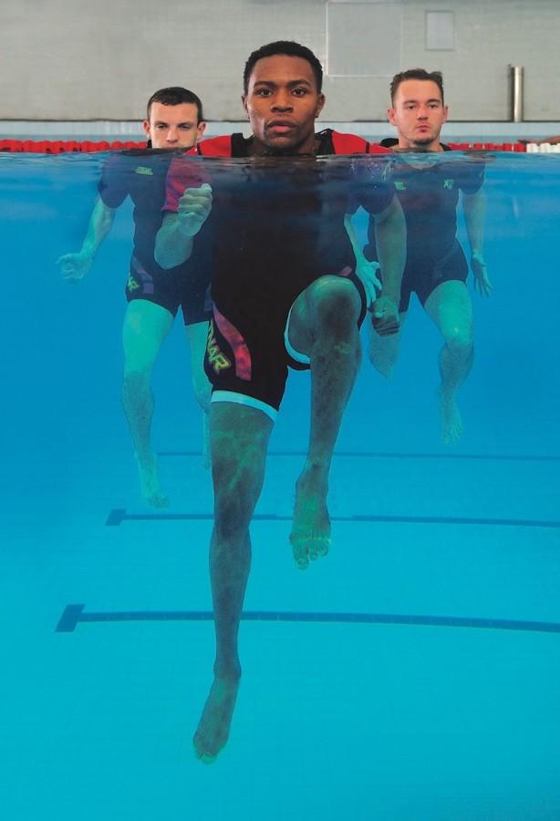 Terry Nelson, Aqua Running suit